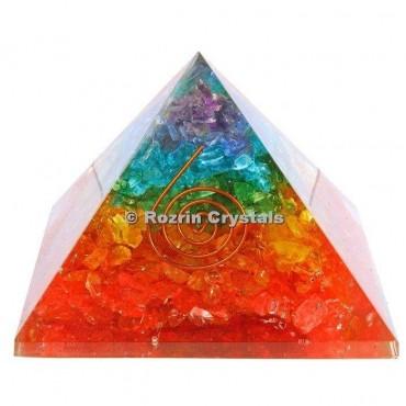 Rainbow Chakra Healing Orgone Pyramids