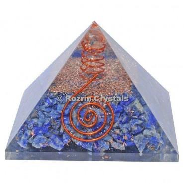 Sodalite Healing Orgonite Pyramids