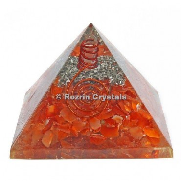 Carnelian Orgonite Pyramids
