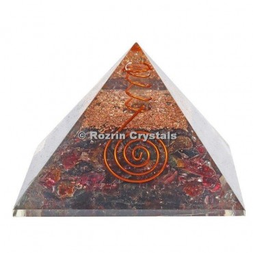 Garnet Orgone Pyramids