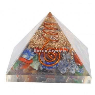 Multi Chakra Stone Orgone Pyramids