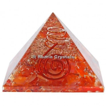 Red Carnellian Healing Orgone Pyramids