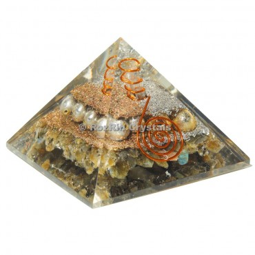 Labrodrite With Pearl  Orgone Pyramids