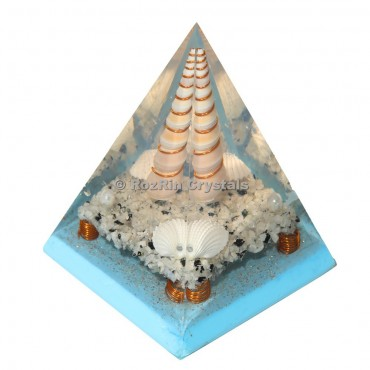 Seashell Spiral Orgone Pyramid