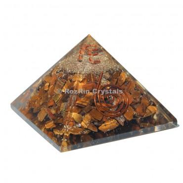 Tiger Eye Energy Orgone Pyramid