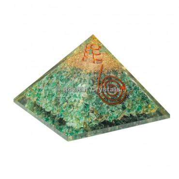 Jade Green spiral  Orgone Pyramid