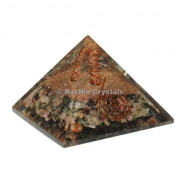 Orgonite Pyramid With Natural Stone