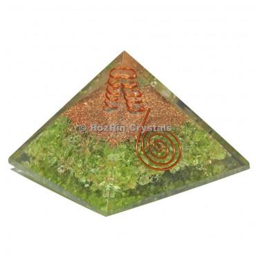 Peridot Orgonite Pyramids