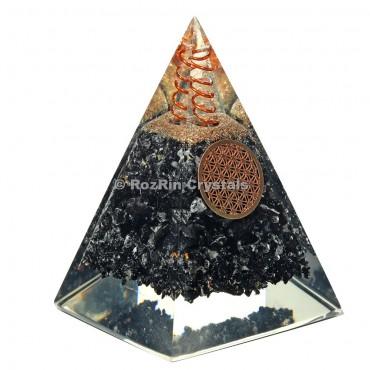 Black Tourmaline Nubian Orgone Pyramid