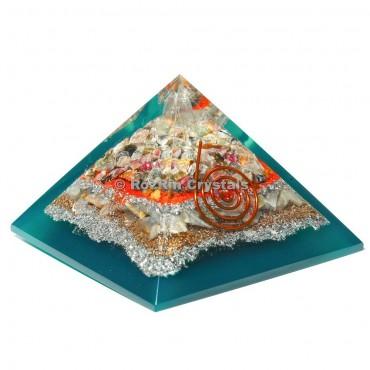 Orgone Pyramid With Mix Stone