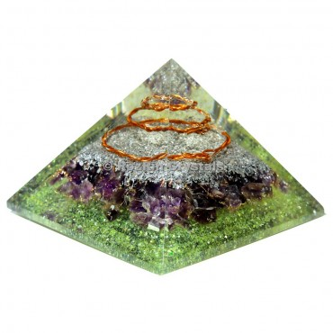 Amethyst Orgonite Spiral Energy Pyramids