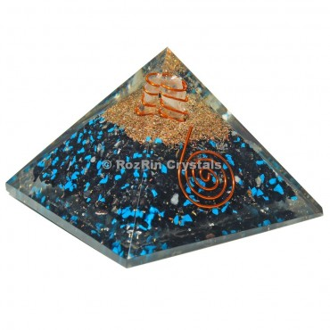 Tourmaline with Tourquise Orgone Pyramids
