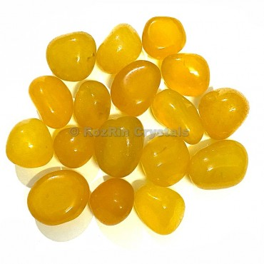 Yellow Onyx Tumbled Stone