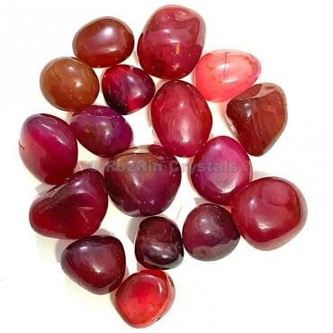Ruby Onyx Tumbled Stone