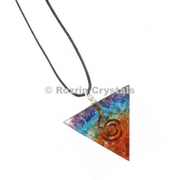 Chakra Orgonite Triangle Pendant