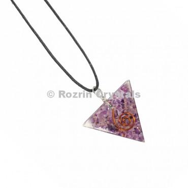 Amethyst Triangle Orgonite Pendant
