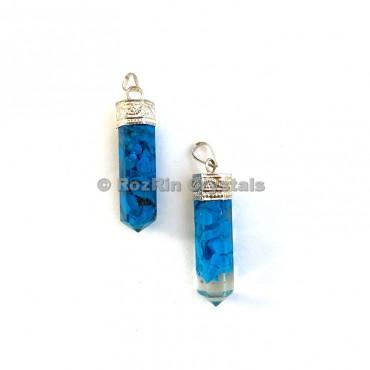 Turquoise Orgonite Pencil Pendants