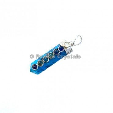 Turquoise Chakra Cabs Orgonite Pencil Pendants