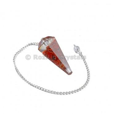 Red jasper Orgone Pendulums