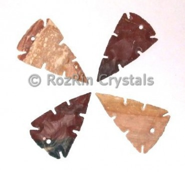 Curved Focal Arrowheads Pendants