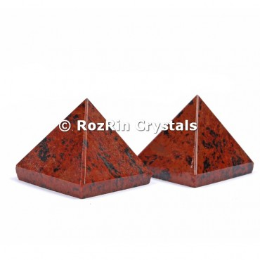 Mahagony Obsidian Pyramid