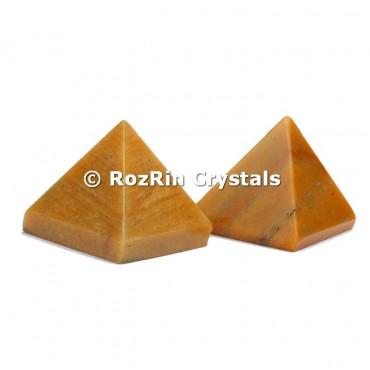 Yellow Jasper Pyramid