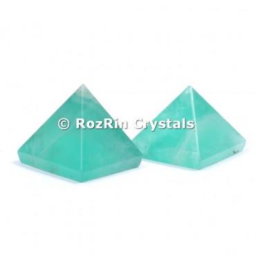 Green Flourite Pyramid