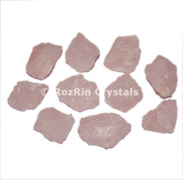 Rose Quartz Raw Tumbled