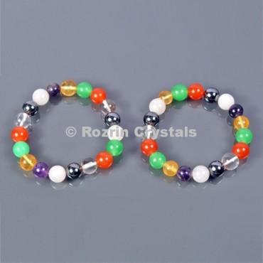 Mix Stone 8 mm Healing  Bracelets