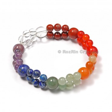 Healing Crystals Double Layer Chakra Beads Bracelets