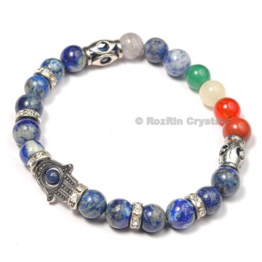 7 Chakra Healing Bracelets with Lapis