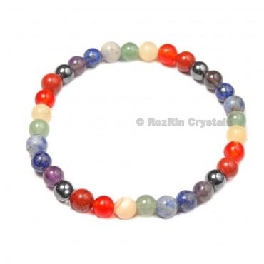 Chakra Bracelets with Hematite