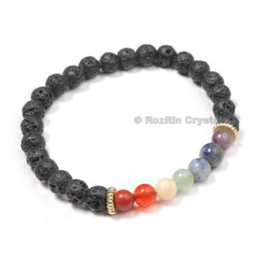 Lava with chakra Designer Bracelets