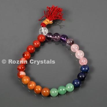 Chakra 8 mm Mala Bracelets Yoga Mala Meditation Budhist Prayer Bracelets