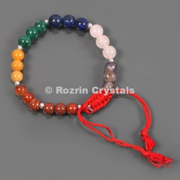 Natural stone 8 mm  Chakra Healing Adjustable Bracelets