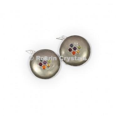 Pyrite Disc Chakra Pendants
