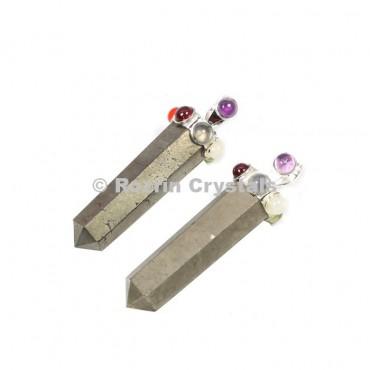 Pyrite Pecil Chakra Pendants