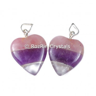 Rac bonded Heart shape pendants