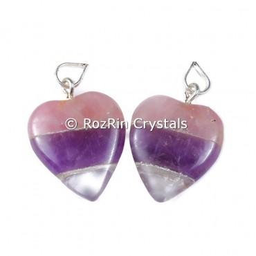 Rac bonded Heart shape pendants
