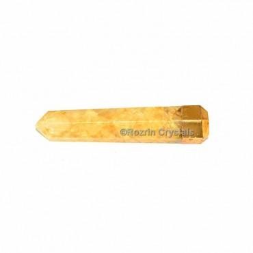 Yellow Aventurine Electroplated Obelisk