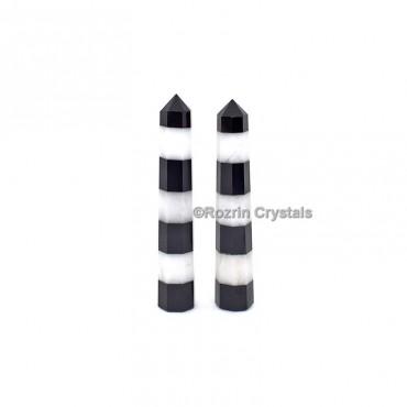 Black And White Crystal Healing Obelisk