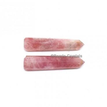 Rose Quartz Crystal Healing Obelisk