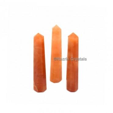Peach aventurine Crystal Healing Obelisk