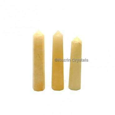 Yellow Aventurine Crystal Healing Obelisk