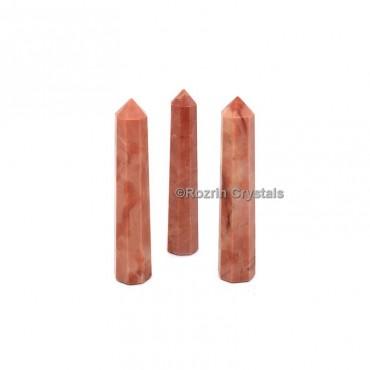 Carrot Jasper Crystal Healing Obelisk