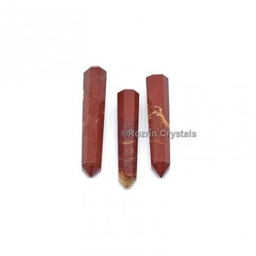 Banded Red Jesper Crystal Healing Obelisk
