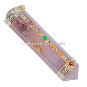 Amethyst Chakra Massage  Healing Wands