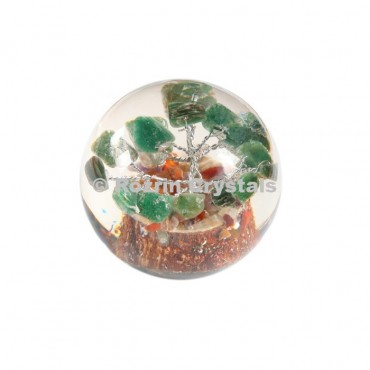 Green Aventurine Tree in Orgone Ball