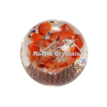 Carnelian Tree in Orgone Ball