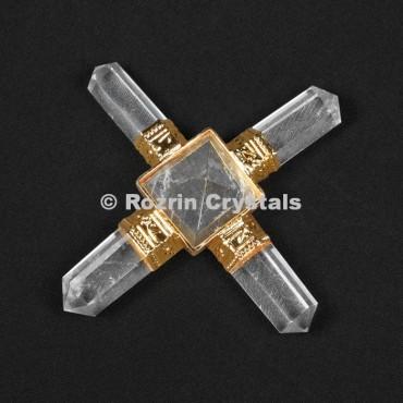 Crystal Quartz Pyramid Healing Generator